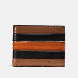 Coach Slim Billfold Varsity Strip Wallet